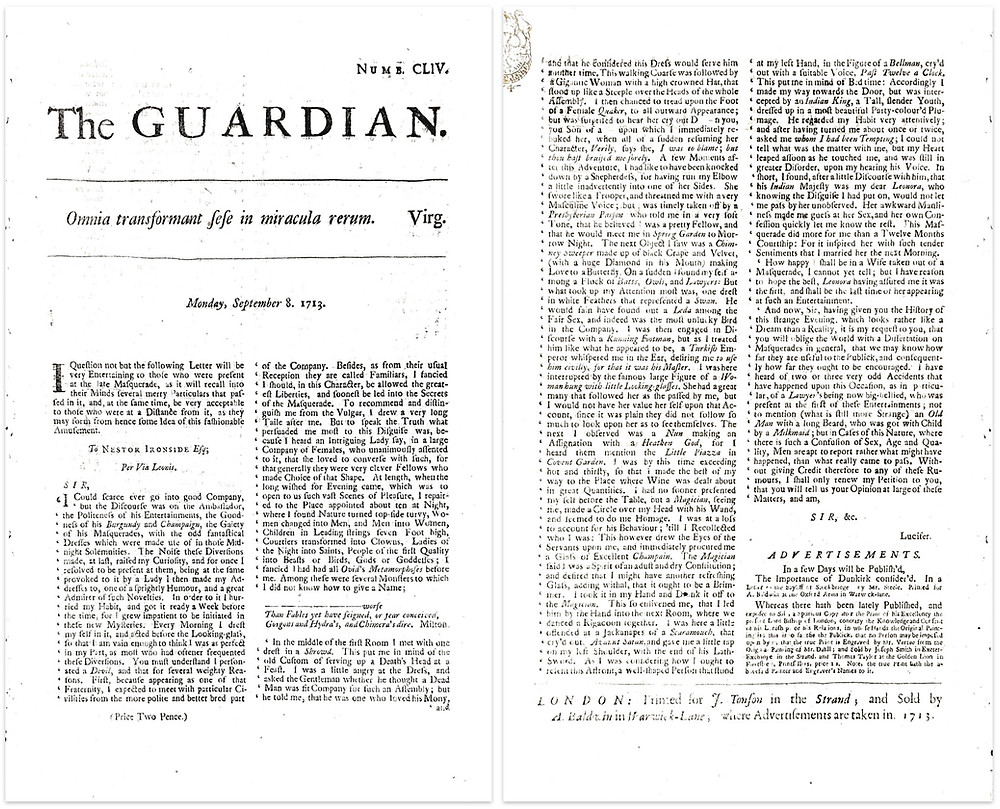 Original copy of The Guardian Number 154