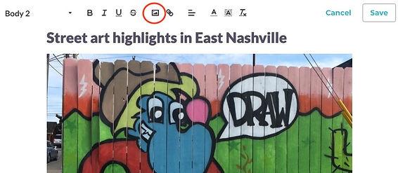 Editor toolbar images