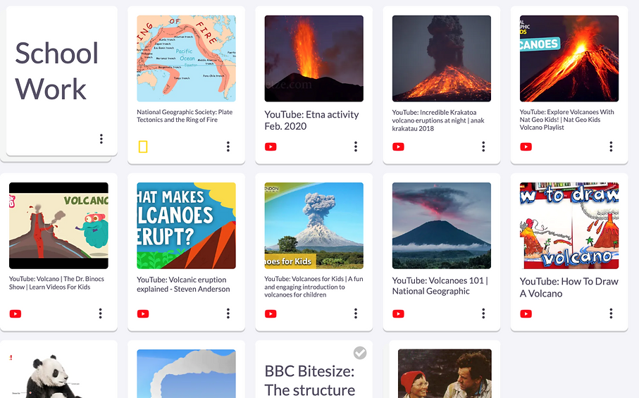 A school project about volcanoes