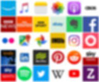 Grid of integrated app logos
