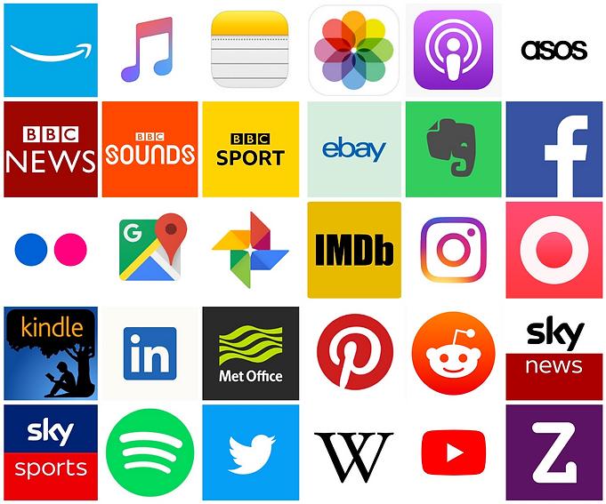 Grid of integrated app logos