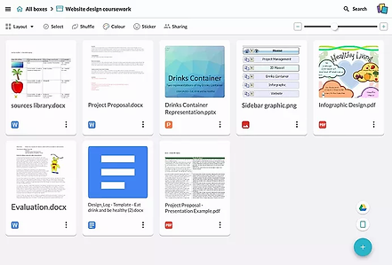 Stack created using Google Drive links