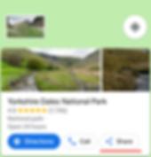 Google maps share icon