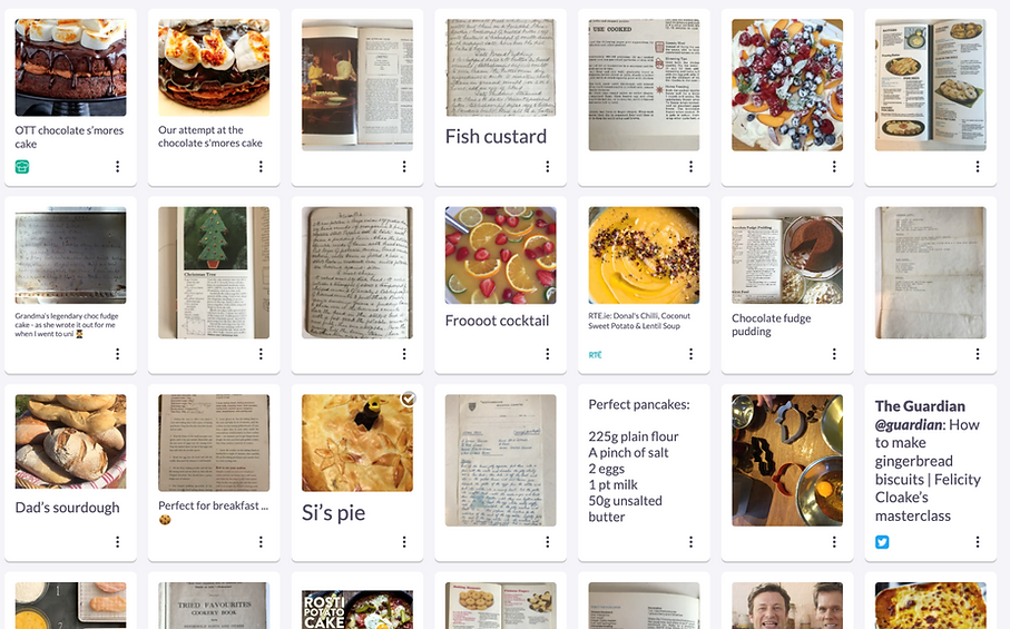 """How to cook like mum"" recipe box"