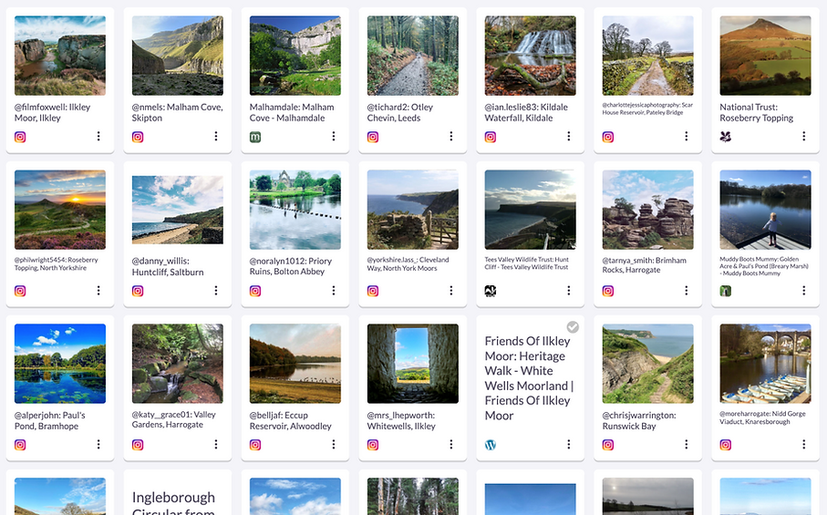 Gathering ideas for places to go on walks