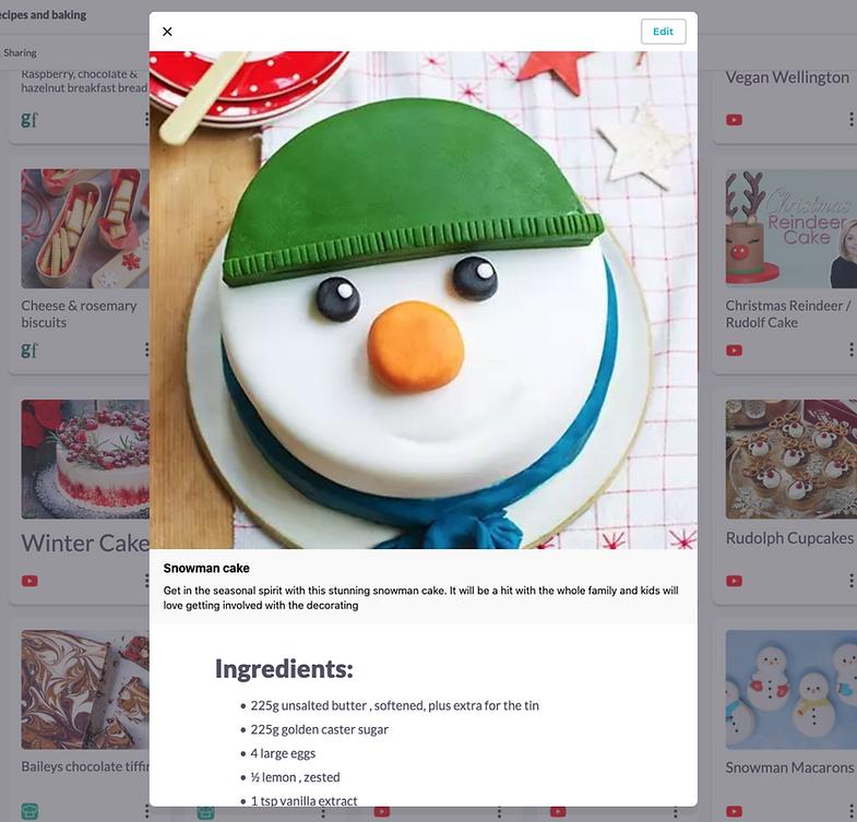 Christmas baking and recipe ideas