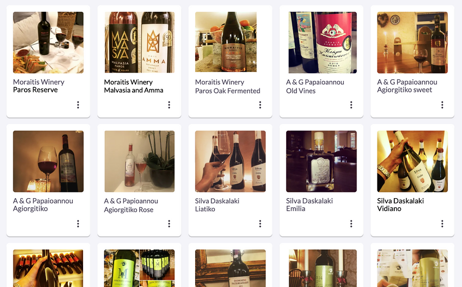 Reminders of wines I want to try again