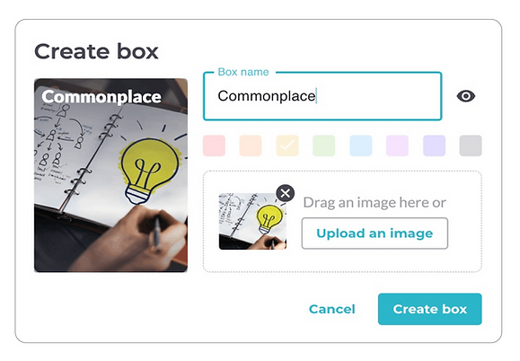 Create box modal