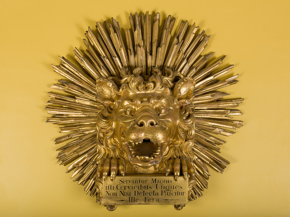 The original Lion from Button's: Picture copyright His Grace, The Duke of Bedford, and Trustees of The Bedford Estate