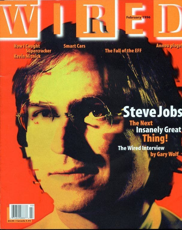 Steve Jobs on Wired magazine cover
