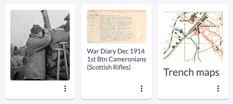 Retracing the steps of a relative in WW1