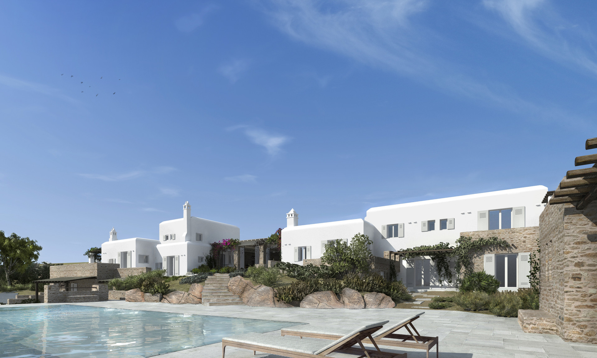 Rearrangement of residence in Mykonos, 2014