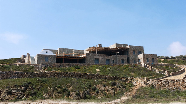 Adaptation and completion of existing structure, Beachfront residence, Mykonos 2017