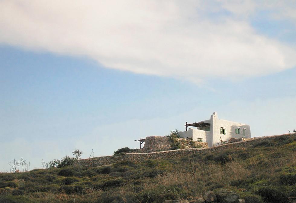 Seaview residence in Mykonos, 1995