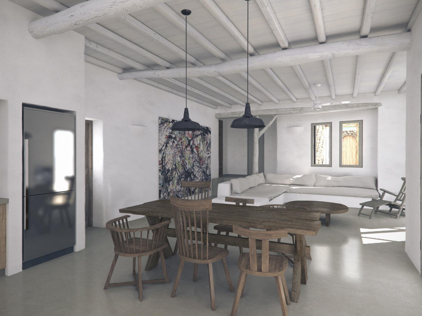 Rearrangement of house in Mykonos, 2017