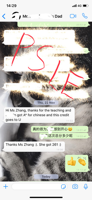 a PSLE student from CHIJ