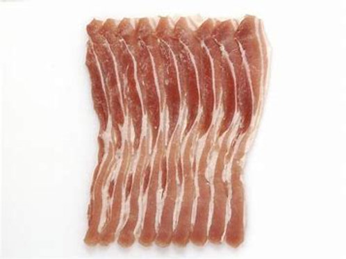 Bacon streaky smoked dry cured - 100g