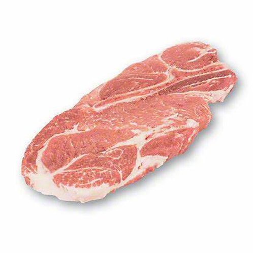 Pork shoulder stakes 1 each 150g