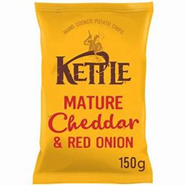 Kettle chips - Mature cheddar and red onion