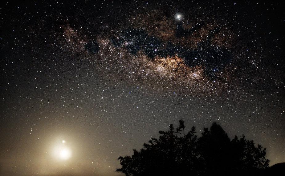 Milky Way, Moon, Jupiter, Venus