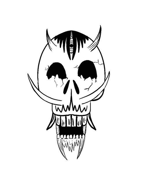 Devlish skull