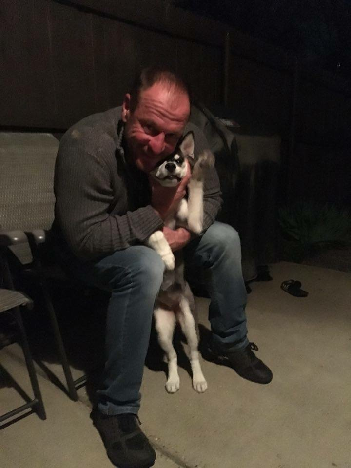 Shadow with her Daddy