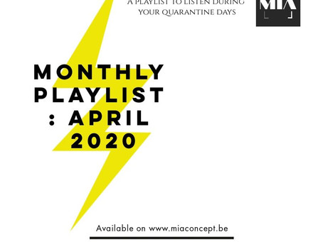 MONTHLY PLAYLIST: APRIL 2020