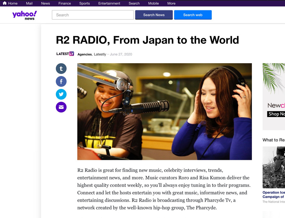 Press: R2 Radio on YAHOO NEWS