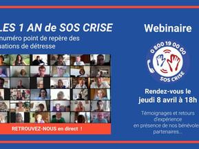 Communiqué - SOS CRISE : un an déjà que le numéro est le point de repère des personnes en détresse