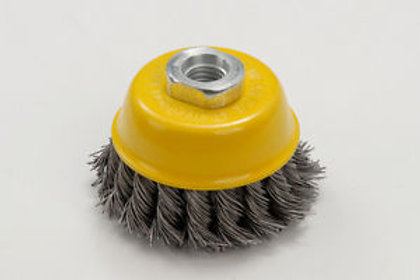 Zip Wheel Yellow Wire Brush For Grinder M14 Thread