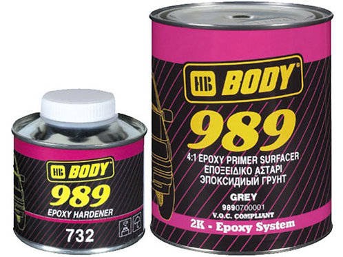 HB Body 989 Epoxy Primer Kit 1.25L