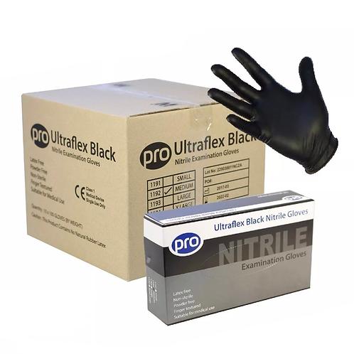 PRO ULTRAFLEX Black Nitrile Powder Free Gloves 1000pc