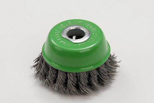 Zip Wheel Green Wire Brush For Grinder M10 Thread