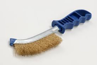 ZIP Wire Hand Brush Brass Plastic Handle 270mm