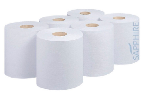 Centre Feed 2 ply White Tissue 6pc