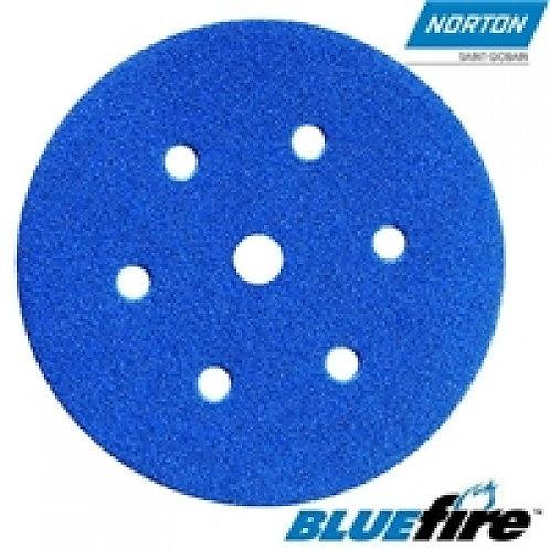 Norton BLUE FIRE P40 H&L Sanding Discs 25pk