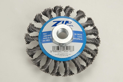 Zip Wheel Blue Wire Brush For Grinder M14 Thread