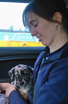 Dierenfysiotherapeut Nicole met hond