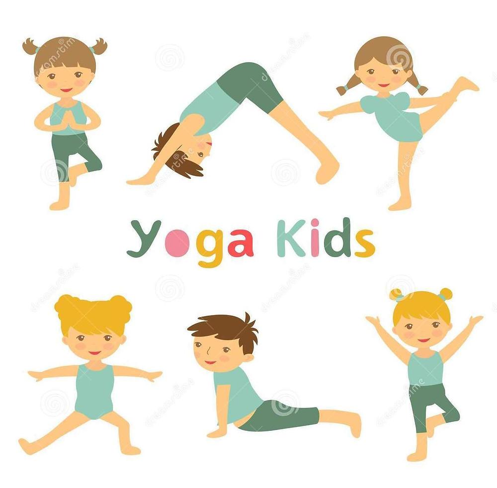 yoga-kids-illustration-cute-36108430