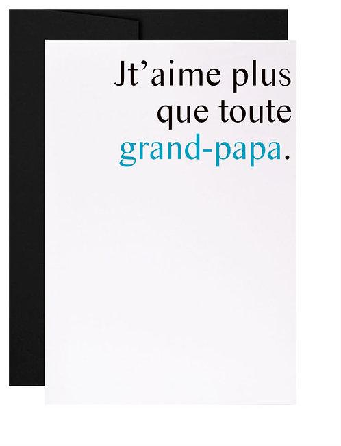 Carte de souhait québécoise cadeau Famille grand-père