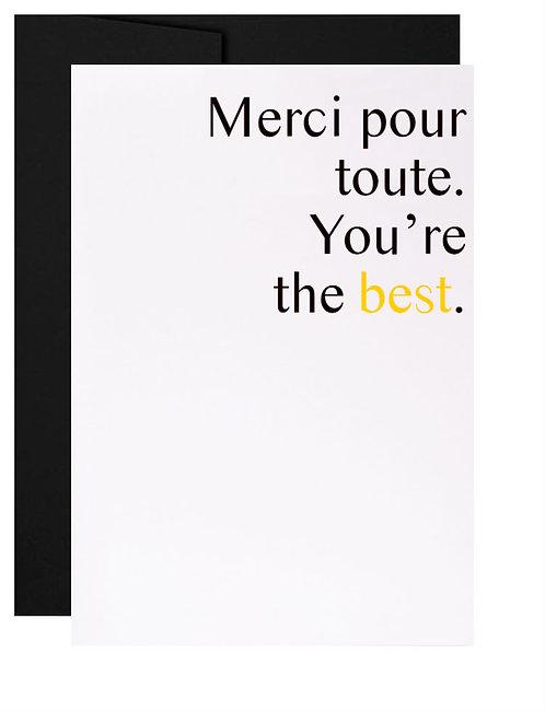 Carte de souhait québécoise cadeau Merci