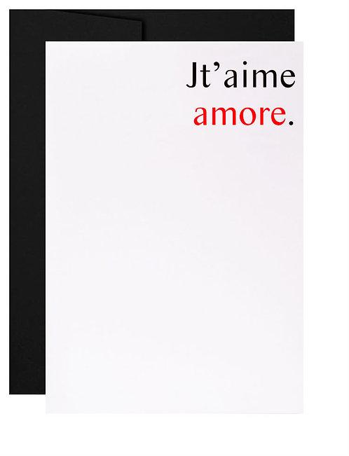 Carte de souhait québécoise cadeau italien