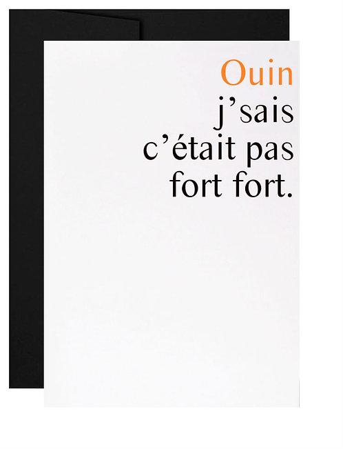 Carte de souhait québécoise excuses