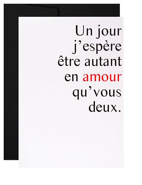 Carte de souhait québécoise cadeau Mariage