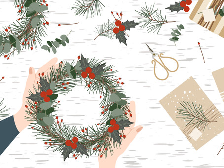 The Magic of the Holly Tree: Make your own Christmas Holly Wreath