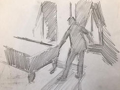 caillebotte drawing paris studio atelier