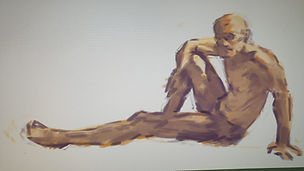 nude step live painting session online p