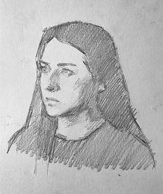 step drawing portrait paris conservatoir