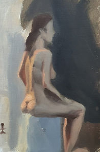 oil nude study