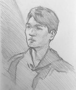 gaillard portrait drawing